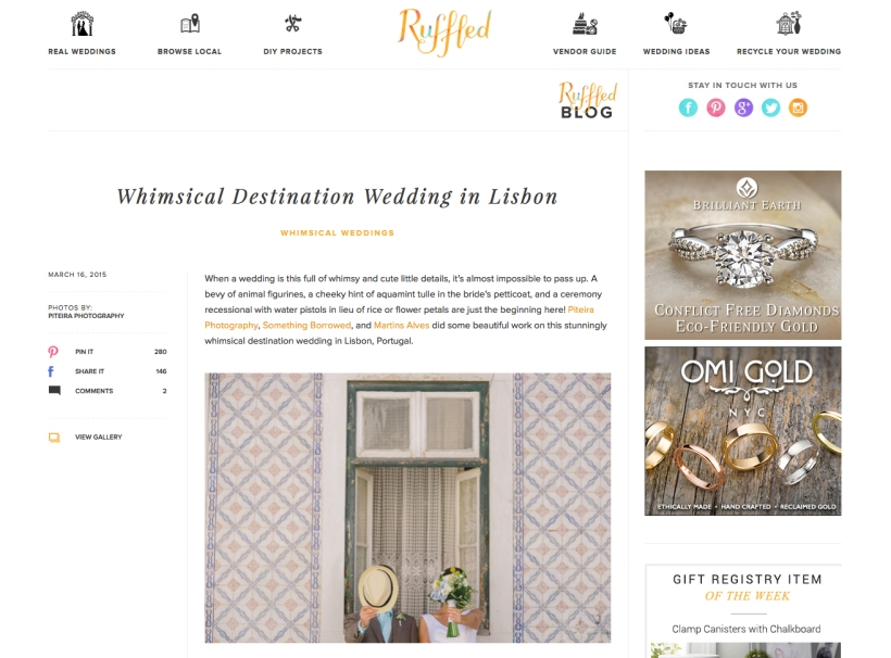 Destination wedding lisbon portugal